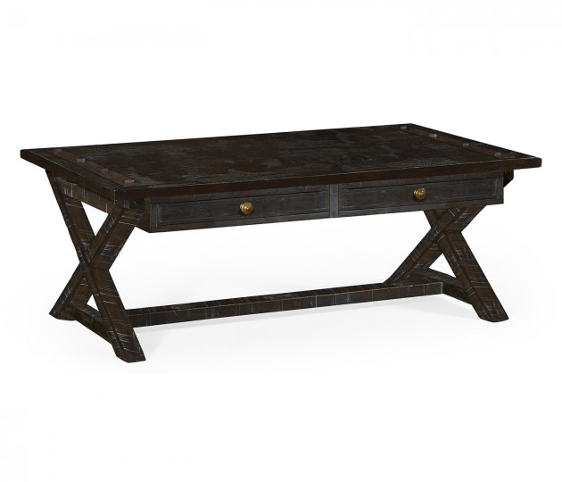 Dark Ale Coffee Table with Drawers