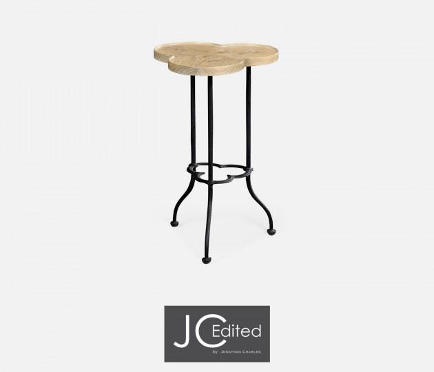 Trefoil Limed Chestnut Side Table