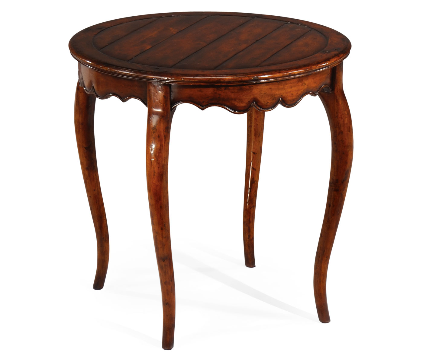 French Country Round Kitchen Table: Round French Walnut Country Side Table