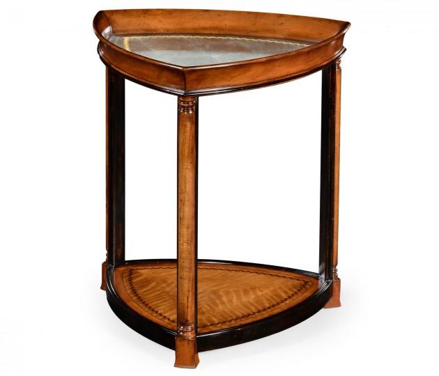 Walnut & �glomis� Triangular Lamp Table
