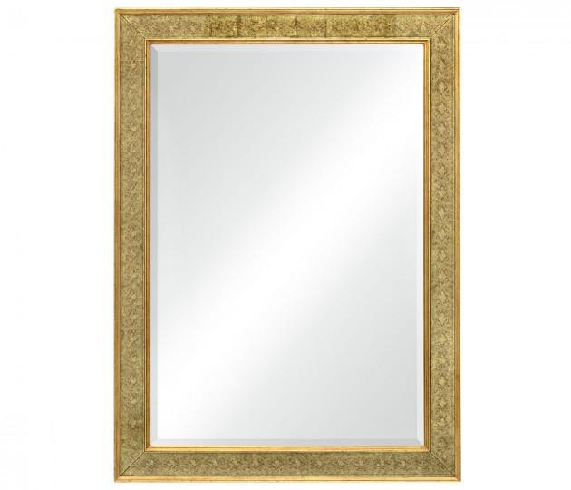 Rectangular Mirror with �glomis� Gilt Borders