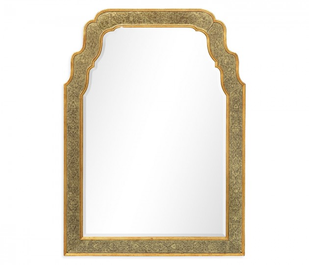 William & Mary Style �glomis� Framed & Gilded Mirror