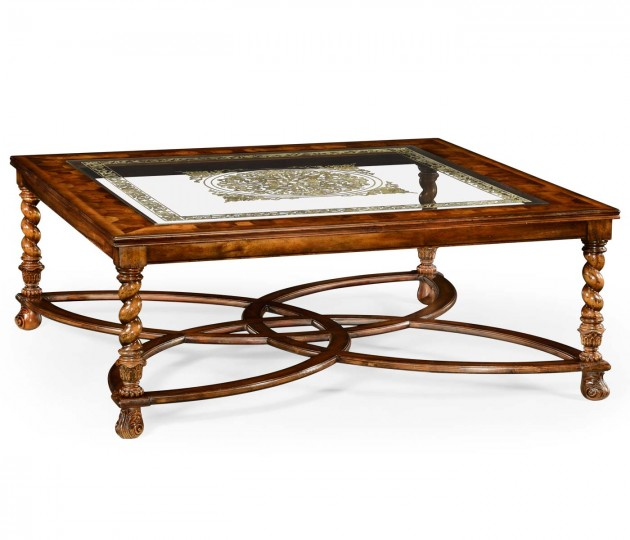 Square Oyster & �glomis� Coffee Table (52
