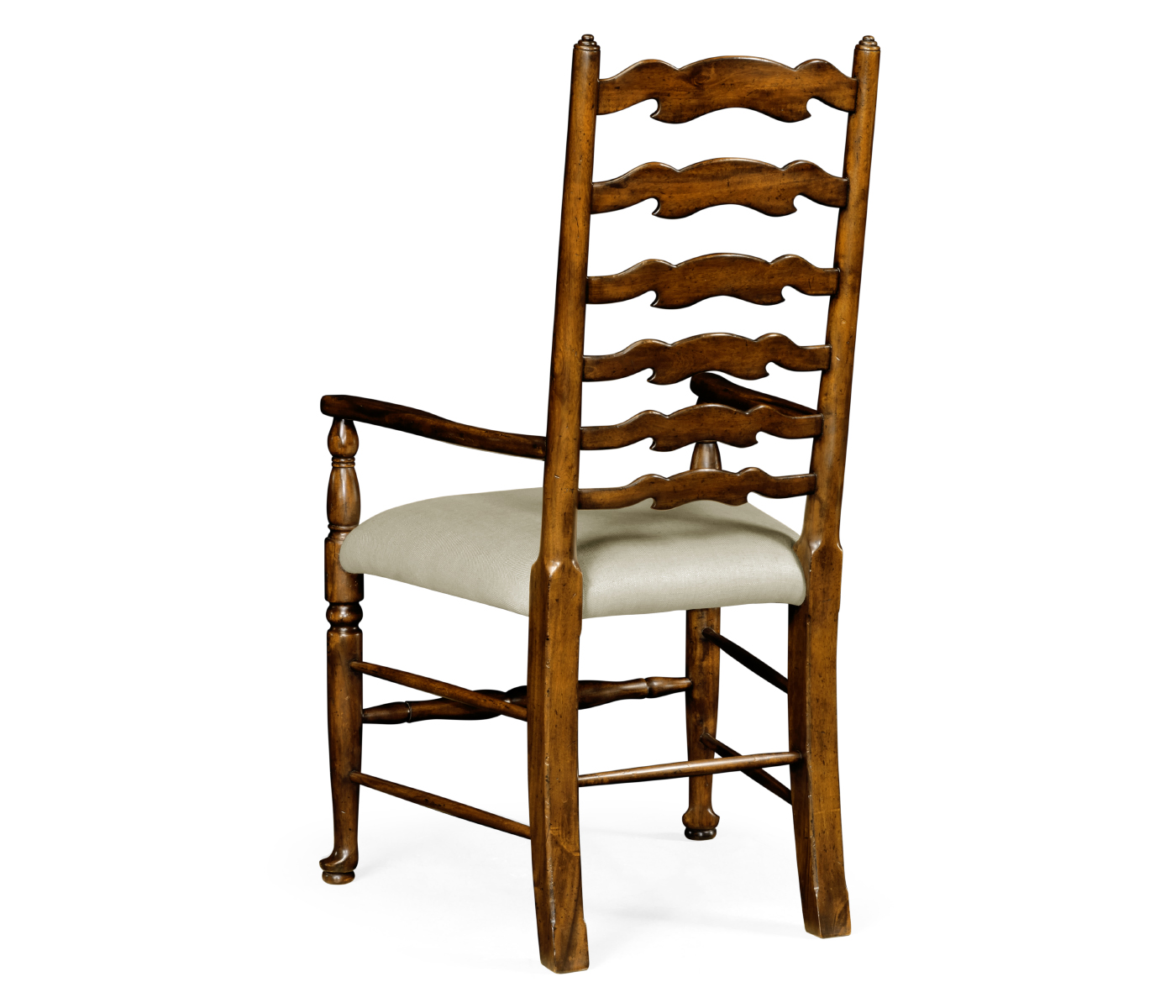 Walnut Country Ladder Back Chair Cushion