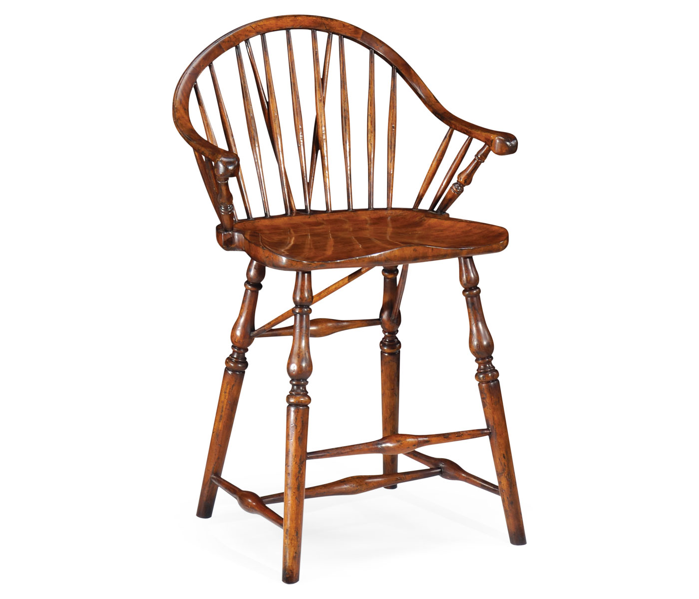 Windsor Style Counter Stool Arm