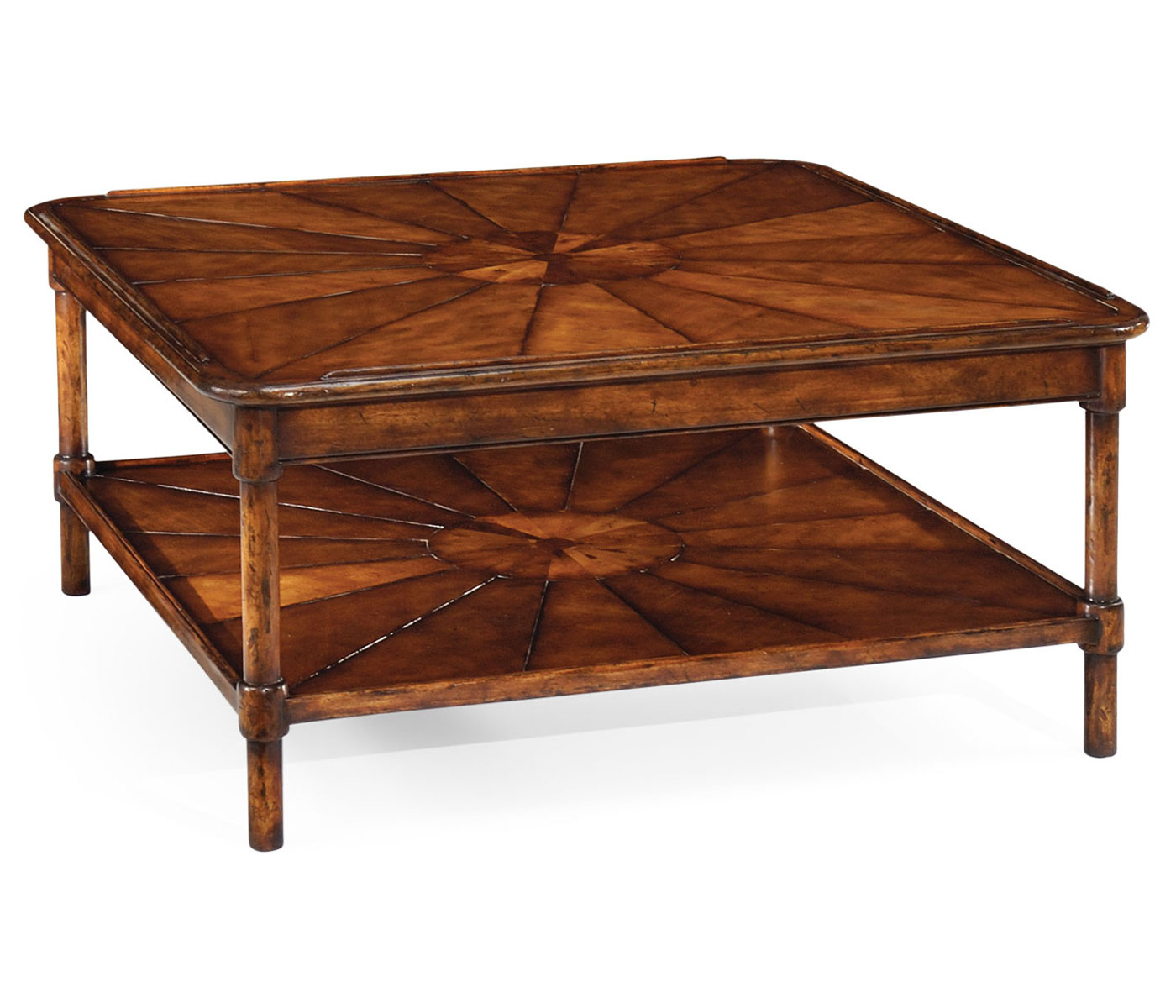 Square rustic walnut coffee table Coffee tables rustic