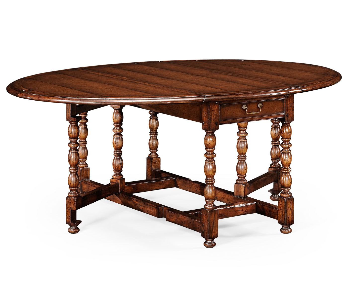 oval walnut gateleg table small