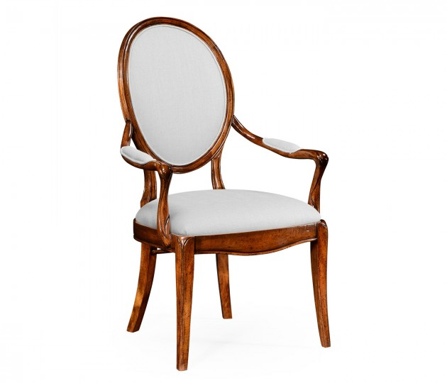 Spoon Back Upholstered Dining Chair (Arm)