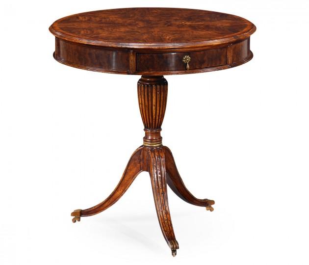 Walnut Drum Table