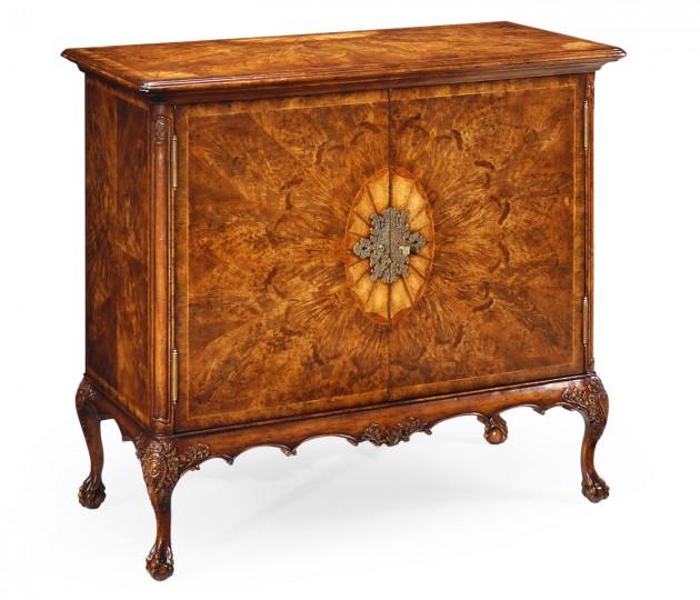 Flaming Light Walnut Side Cabinet