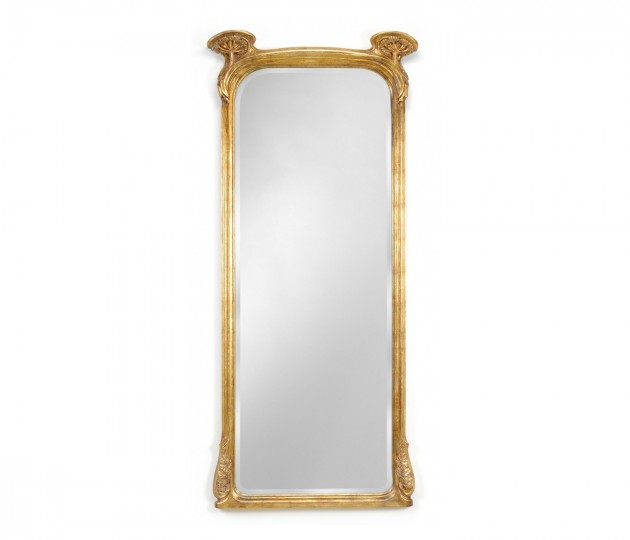 Full Length Art Nouveau Gilded Mirror