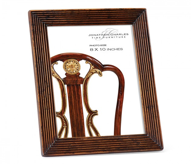 Walnut Ribbed Picture Frame (8