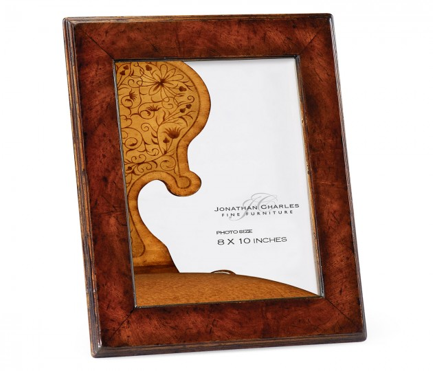 "8""x10"" Stepped Crotch Walnut Picture Frame"