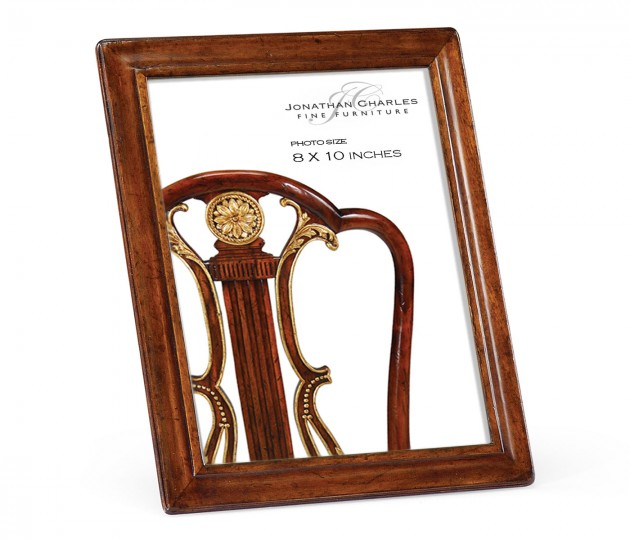 """8""""x10"""" Concave Moulding Walnut Picture Frame"""
