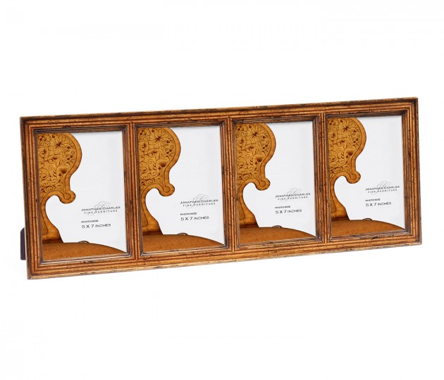 Satinwood Ribbed Picture Frame (5