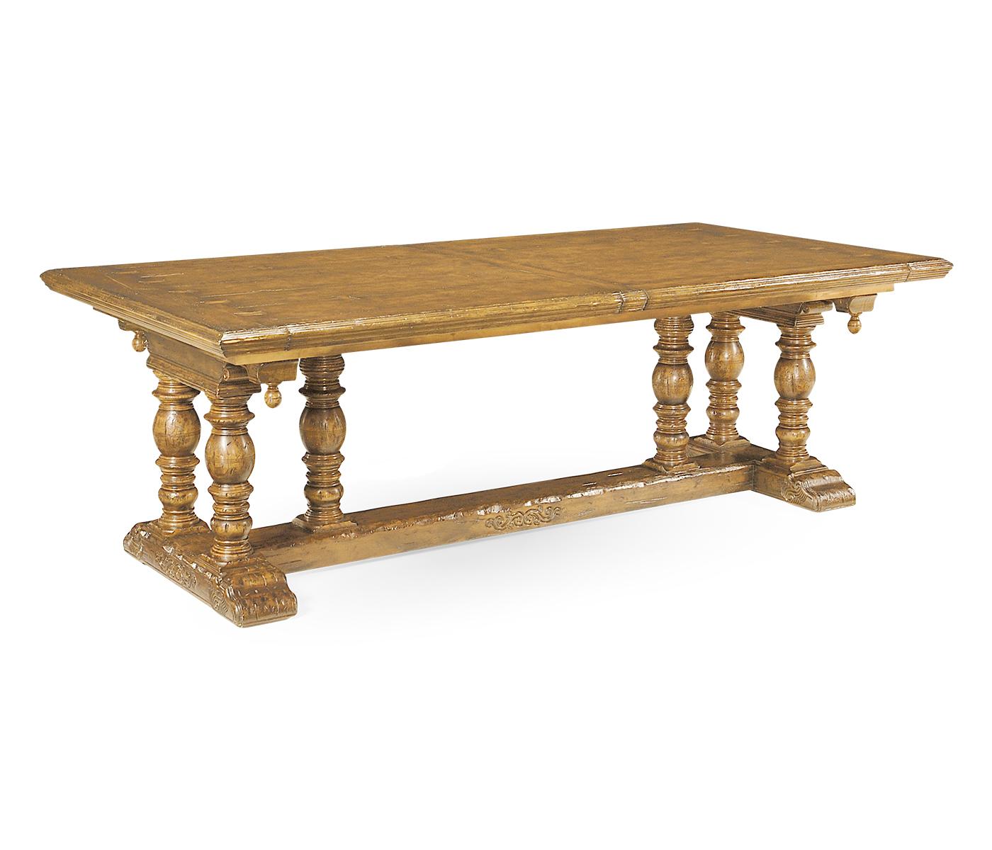 Elizabethan Natural Oak Extending Dining Table