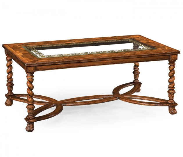 Rectangular Oyster & �glomis� Coffee Table