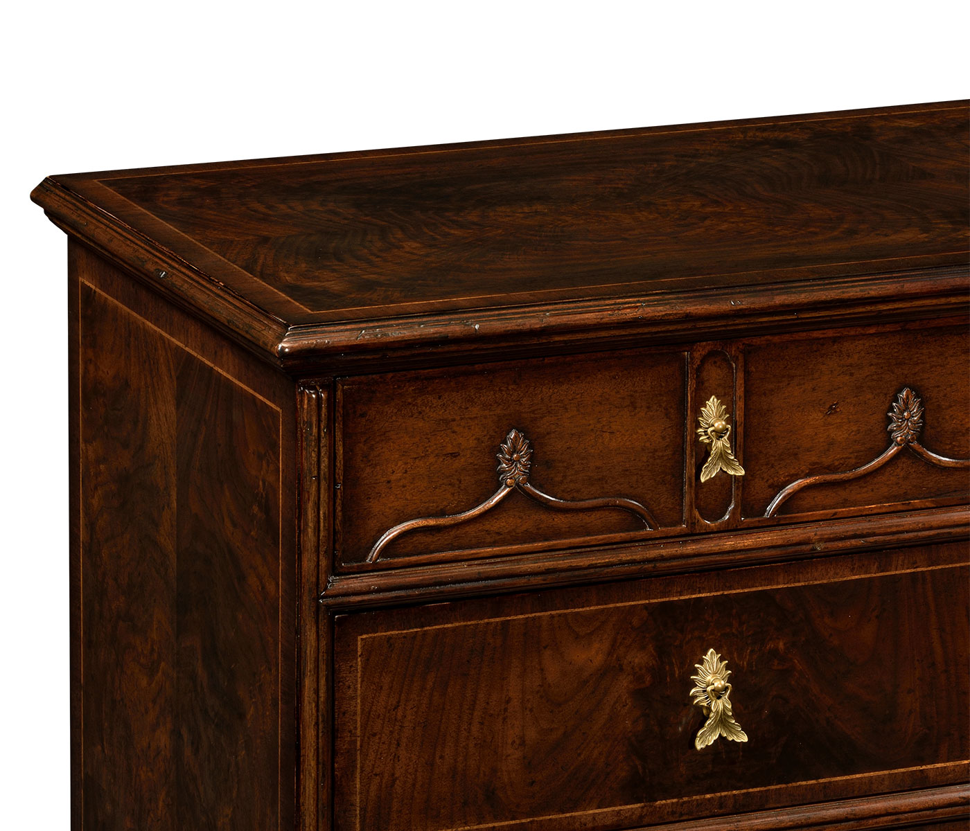 Chippendale Gothic Large Chest Of Five Drawers
