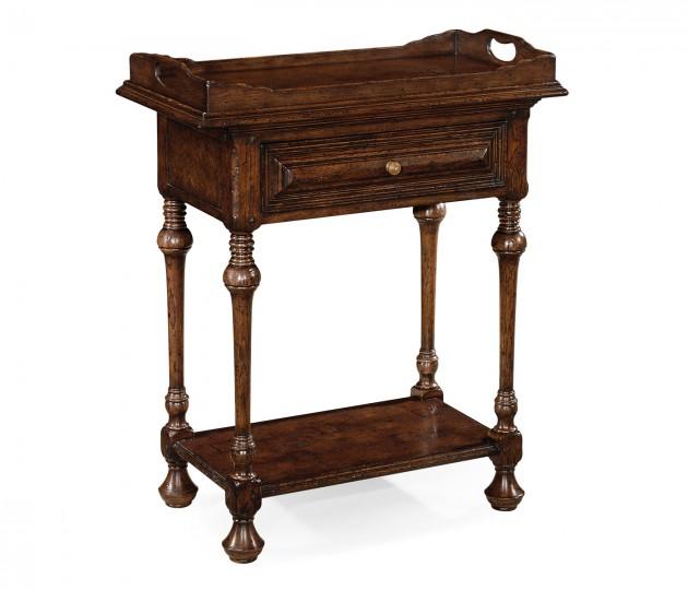 Elizabethan style dark oak tray table
