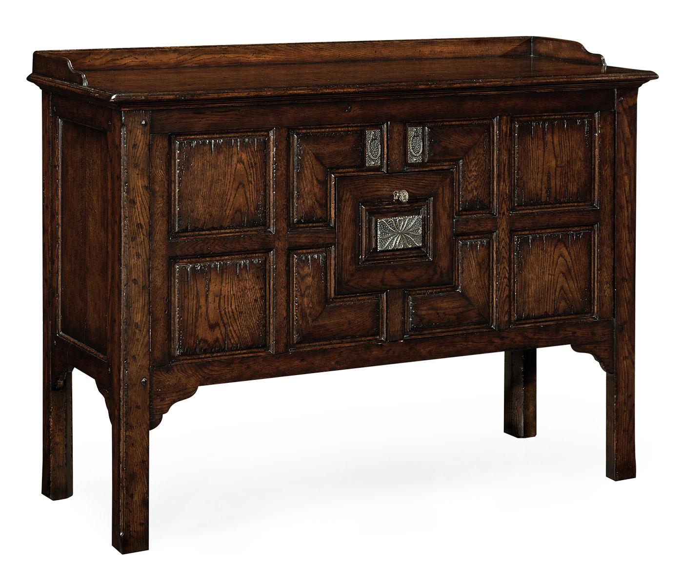 Dark Oak Kitchen Cabinets: Tudor Style Dark Oak Cabinet