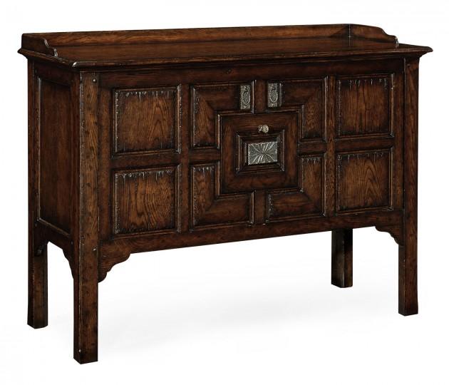 Tudor Style Dark Oak Cabinet