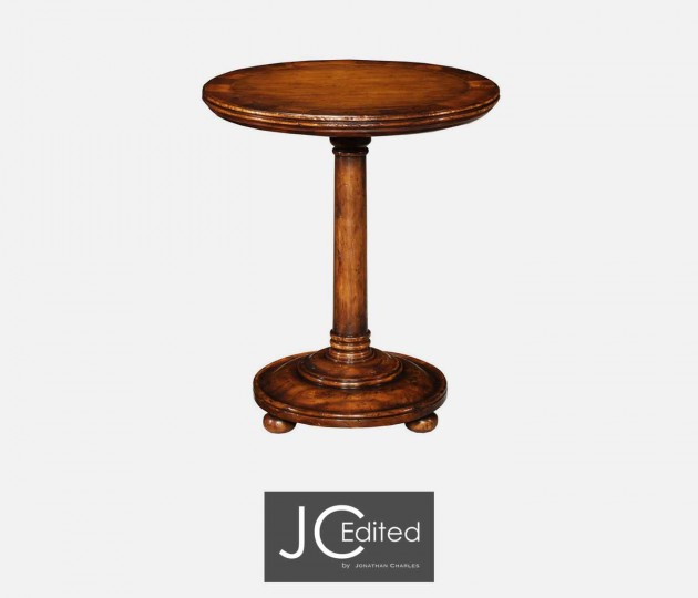 Large Walnut Oyster Round Lamp Table