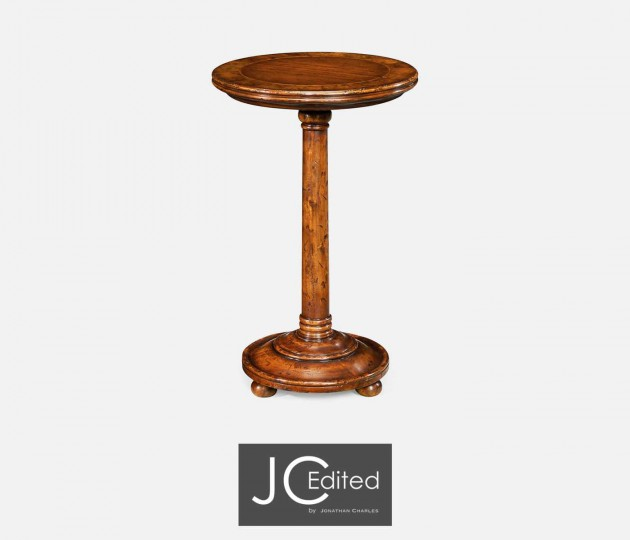 Small Walnut Oyster Round Lamp Table