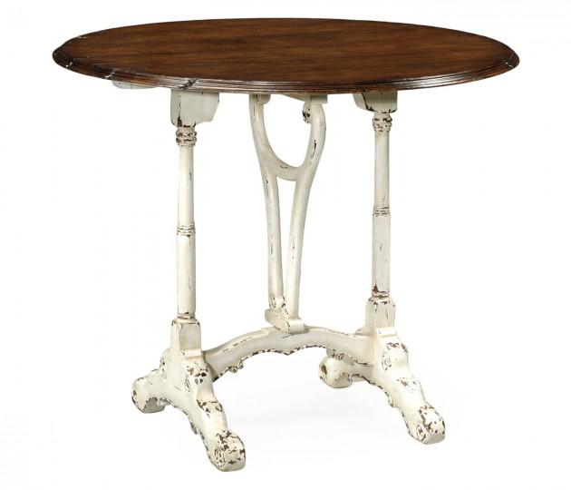 White Rub-Through Tilt Top Table