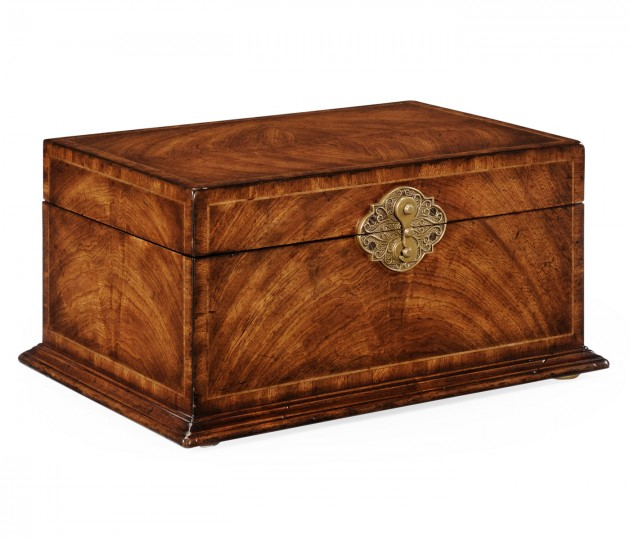 Rectangular Crotch Walnut Jewellery Box