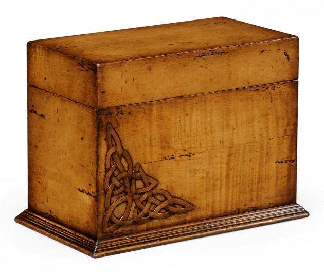 Raised Celtic Veneer Letter Box