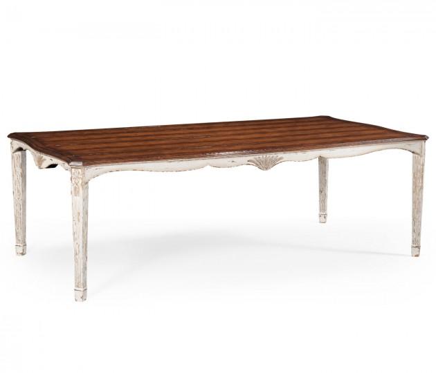White Rub-Through Dining Table