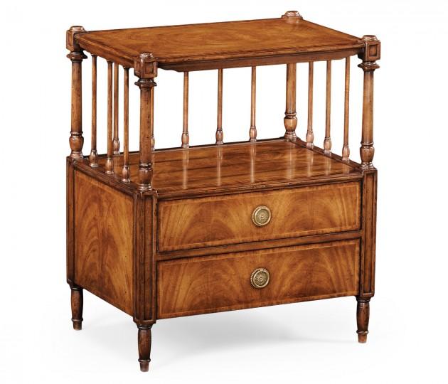 Crotch Walnut Veneer Side Table