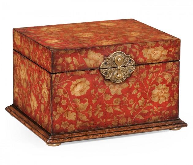Red Chinoiserie Jewellery Box