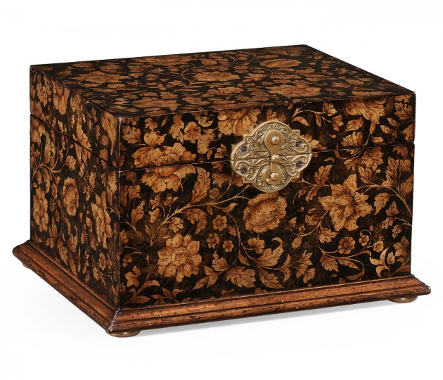 Black Chinoiserie Jewellery Box
