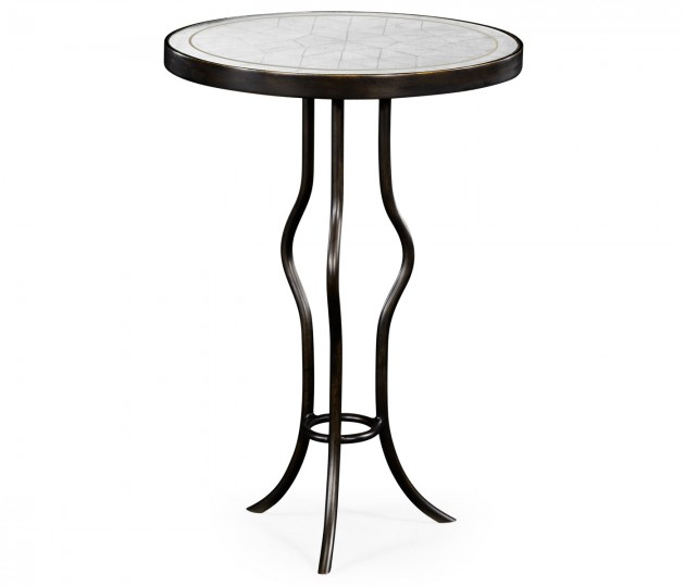 �glomis� & Bronze Iron Round Wine Table