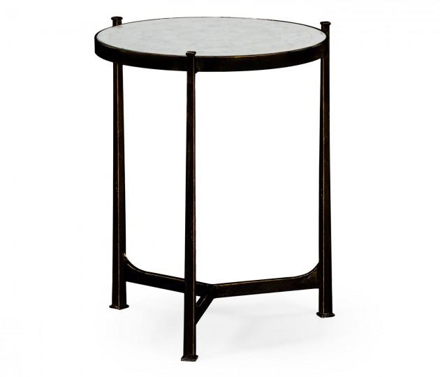 �glomis� & Bronze Medium Iron Lamp Table