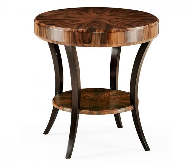 Art Deco Satin Round Side Table