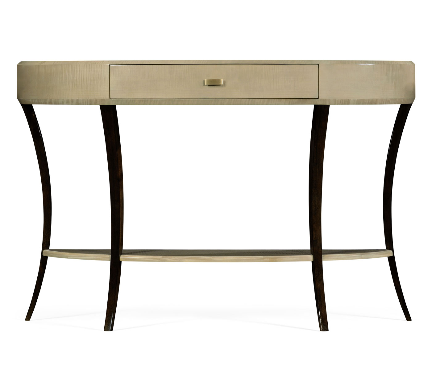 Art deco large demilune console table with drawer geotapseo Image collections