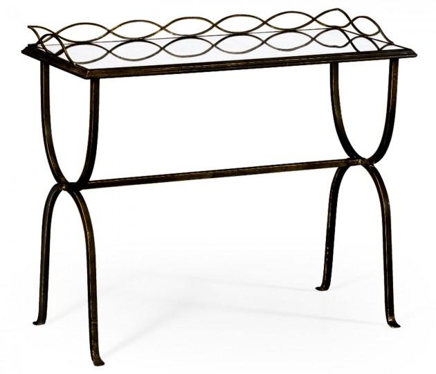 �glomis� & Bronze Iron Drinks Table