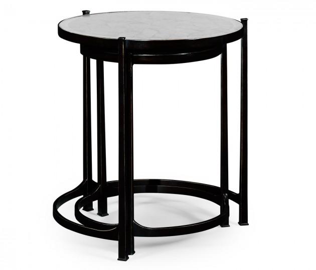 �glomis� & Bronze Iron Round Nest of Tables