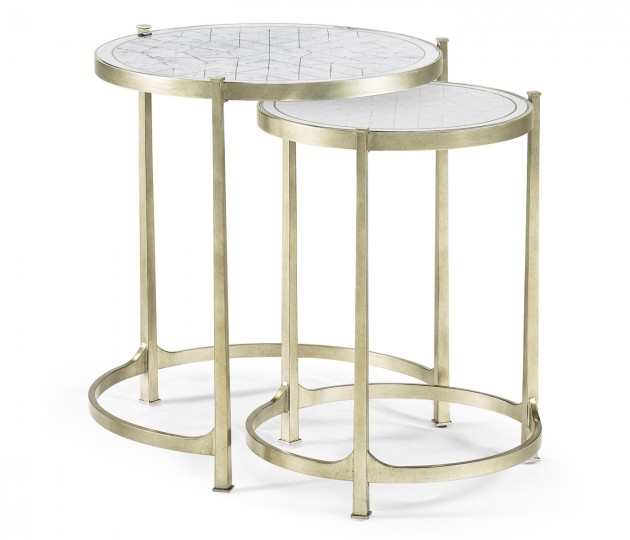 �glomis� & Silver Iron Round Nest of Tables