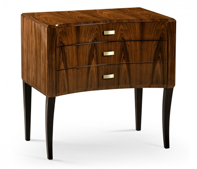 Art Deco High Lustre Curved Chest of Drawers