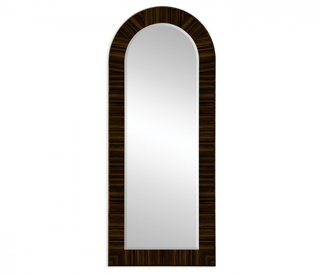 Full Length Art Deco Macassar Ebony High Lustre Mirror