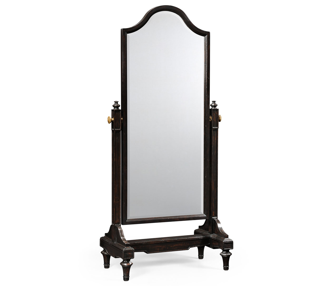 Ebonised cheval mirror full length for Cheval mirror