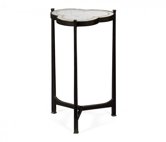 �glomis� & Bronze Iron Trefoil Lamp Table