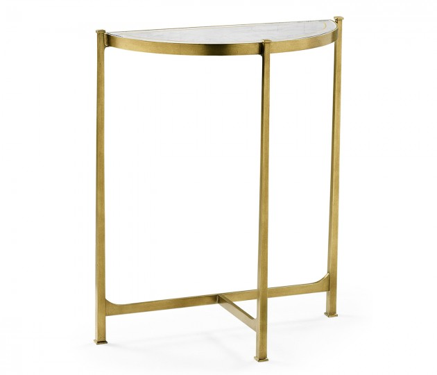 Small �glomis� & Gilded Iron Demilune Console