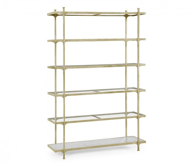 �glomis� & Silver Iron Six-Tier �tag�re