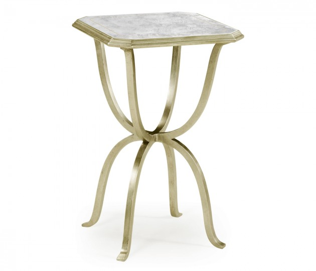�glomis� & Silver Iron Octagonal Side Table