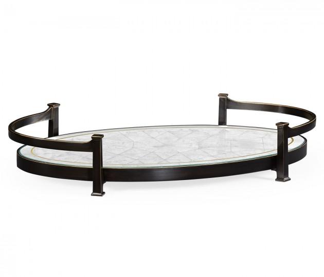 �glomis� & Bronze Iron Oval Tray
