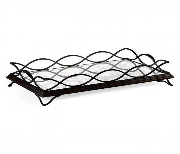 �glomis� & Bronze Iron Rectangular Tray